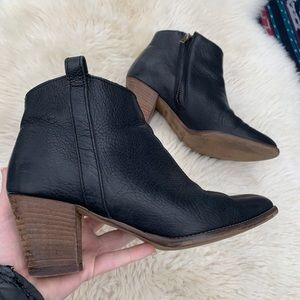 Madewell Billie Black booties ankle boots chunky